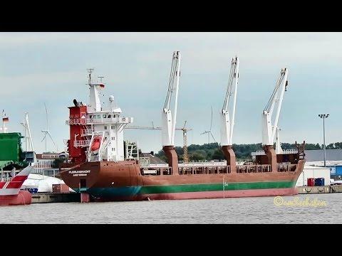 3 crane cargo seaship FLORIJNGRACHT PBSU IMO 9428413 Emden merchant vessel Frachtschiff