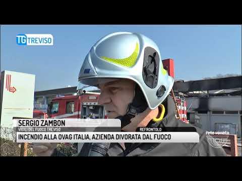 TG TREVISO (26/03/2018) - INCENDIO ALLA...