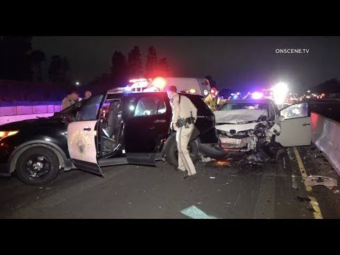 California Highway Patrol 'The CHP' Try To Stop DUI Driver & Gives Drunk Their CHP Unit To Drive Off