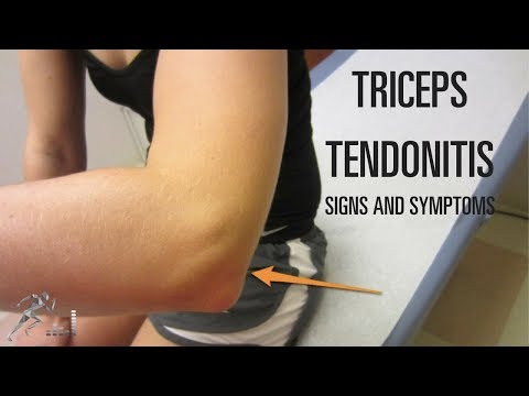 Triceps tendonitis: Signs, symptoms and treatment options