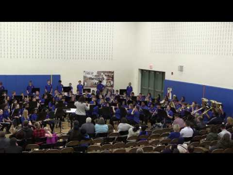 The 8th Grade Blazer Band performs Variations On A Sailing Song