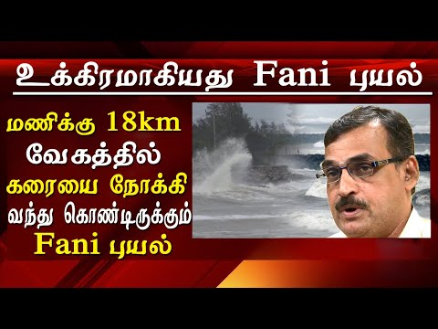 fani cyclone current status fani intensifies into a deep depression cyclone news tamil news live
