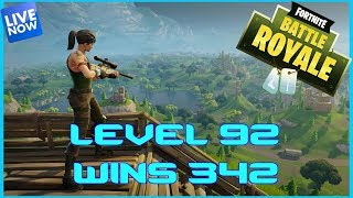 Fortnite Battle Royale - LVL 92 - 342 WINS - LIVE - (PS4 PRO) Full HD