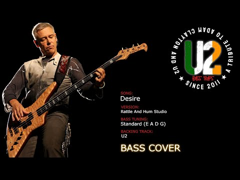 U2 - Desire (Studio Version) [Bass Cover]