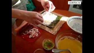 Рецепт приготовления горячих темпурных роллов(http://sushifan.ru - суши, роллы, сашими, отзывы и рецепты. Горячие роллы с мясом краба (крабовые палочки), тобико и..., 2009-10-24T03:52:06.000Z)