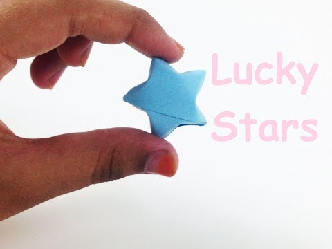 How to Make Origami ⭐ Lucky Paper Stars   Simple Paper Star/Origami Star ⭐ Tutorial - EasyCrafts DIY