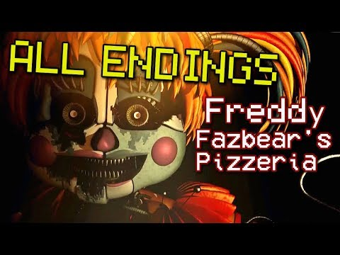 ALL ENDINGS / FINAL NIGHT - Freddy Fazbear's Pizzeria Simulator ( FNAF 6 )