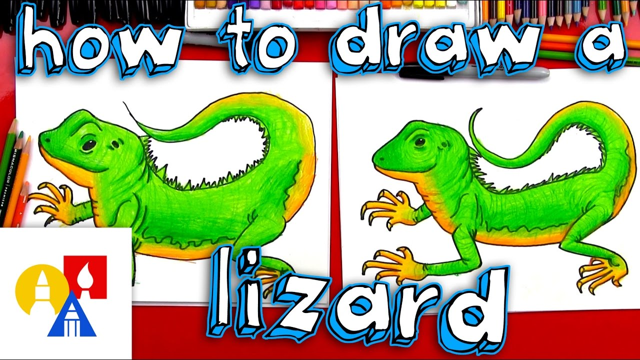 How To Draw A Realistic Lizard Youtube