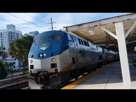 Excitement when the Amtrak leaves the West Palm Beach Station