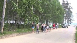Лесосибирск дети на набережной Енисея. 20 июня 2013 года. Видео высокой чёткости.