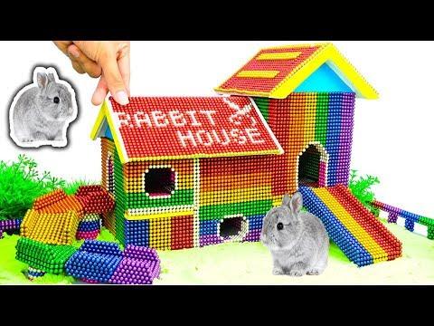 DIY - Build Amazing Bunny Rabbit House With Magnetic Balls (Satisfying) - Magnet Balls