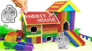 DIY - Build Amazing Bunny Rabbit House With Magnetic Balls (Satisfying) - Magnet Balls