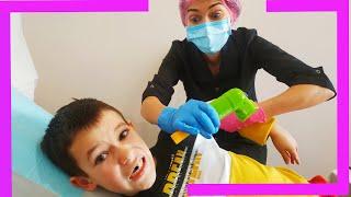 Тима и папа - история о том как Тима не хочет лечить зубы
