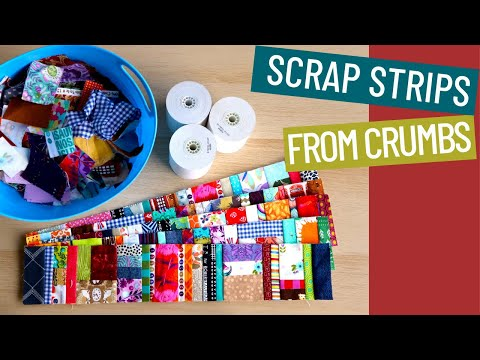 🔷 🔶 HOW USE UP SCRAP FABRIC - CRUMB QUILT TUTORIAL with adding machine tape