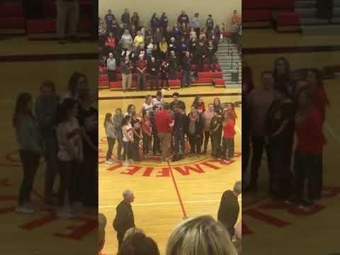 Brimfield High School chorus 2019 national anthem