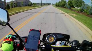 Car pulls out in front of motorcycle