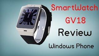 Smartwatch GV18 compatible con Windows Phone - Review en español
