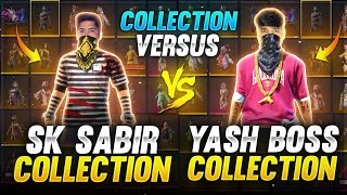 Sk Sabir Boss vs Yash Yt Collection Verses 🤯❤️ Richest Collection Of Free Fire Player