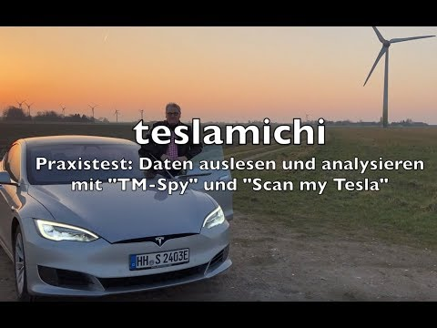 TESLA Akku auslesen Model S and Model X OBD adapter Scan my Tesla TM-Spy