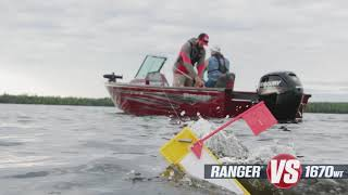 Ranger Aluminum Deep V VS1670WT On-Water Footage