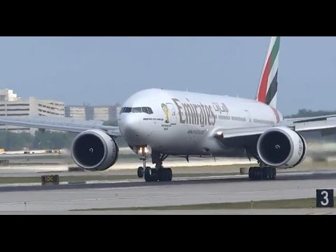 Emirates Inaugural Flight Lands at Chicago O