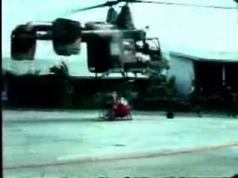 "38th Aerospace Rescue and Recovery Squadron, Korat, Thailand, 1969 training using ""Pedro"" Helicopter"
