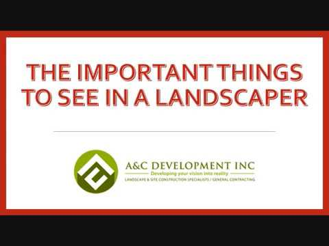 The Important Things to See in a Landscaper
