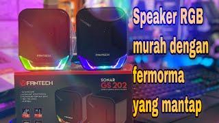 Speaker Gaming Rgb Murah Dengan Kualitas Mantap   Review Gs 202 Sonar Fantech | Low Budget (indo)