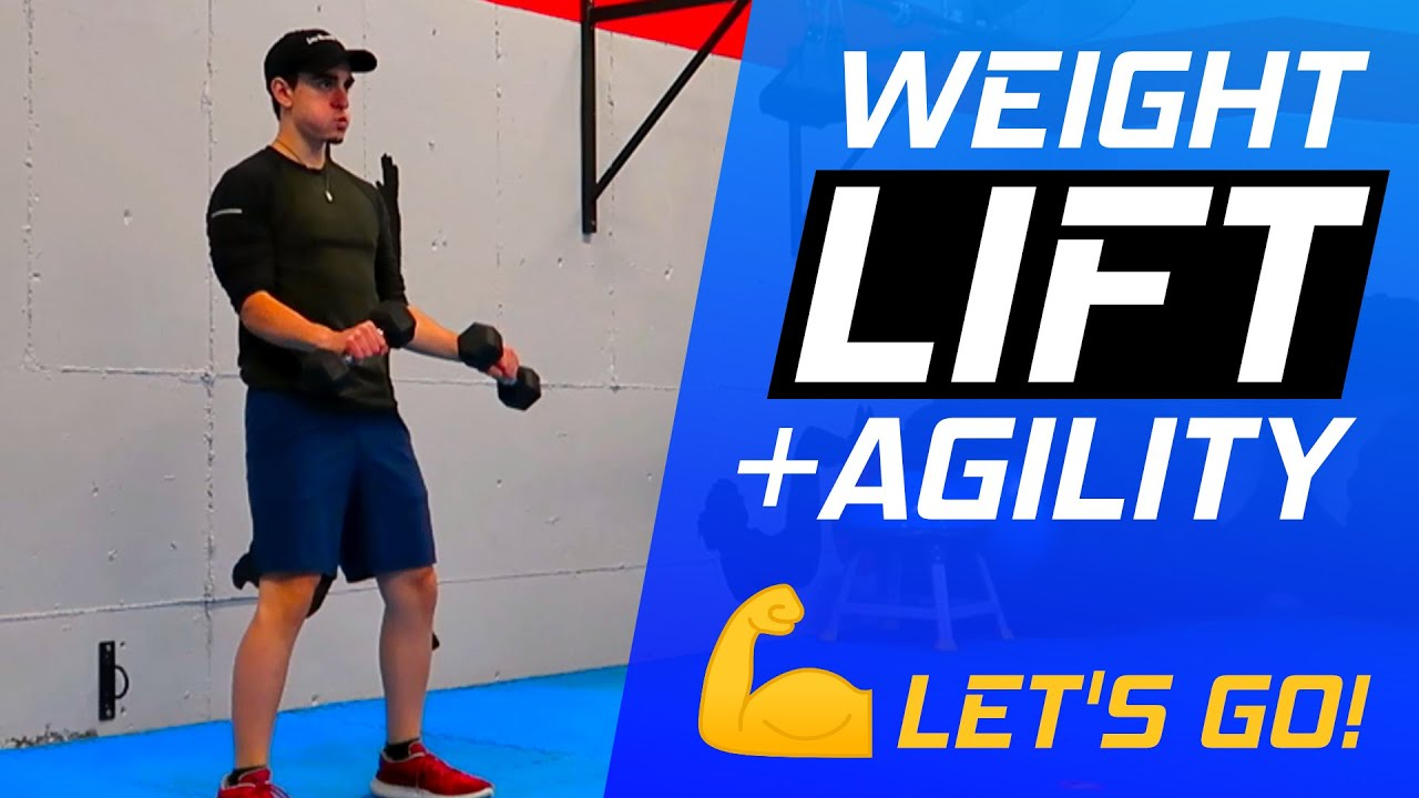 WEIGHT LIFT & AGILITY WORKOUT💪🔥 - Follow Along Dumbbell & Cardio Workout With Coach Trevor!