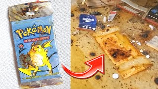Man Finds 20 Year Old Pack of Pokemon Cards Under Shelf at Target! (Opening It)