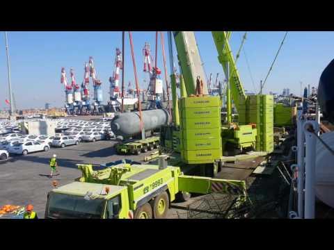 TAAVURA, Ashdod Port, Heavy Vessels Unload  60t, 120t,150t