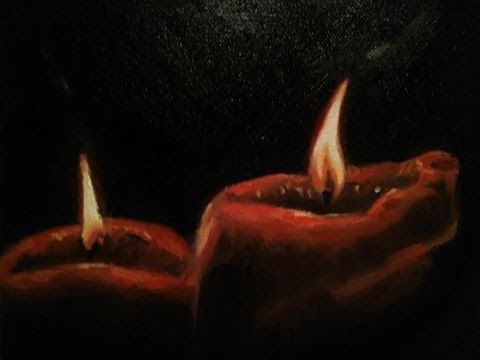 How To Paint Candles - Full Lesson
