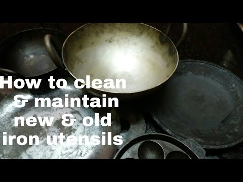 How to clean new iron utensils, tawa/how to use, maintain, season new & old iron utensils, tawa tips
