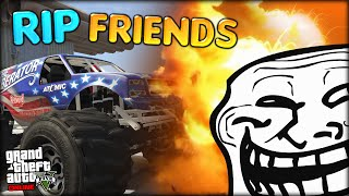 HELLO ROCKETS, TROLLING SIMON, RIP FRIENDSHIP - CRAZY 4x4 GTA RACE (GTA 5 Online Funny Moments #3)