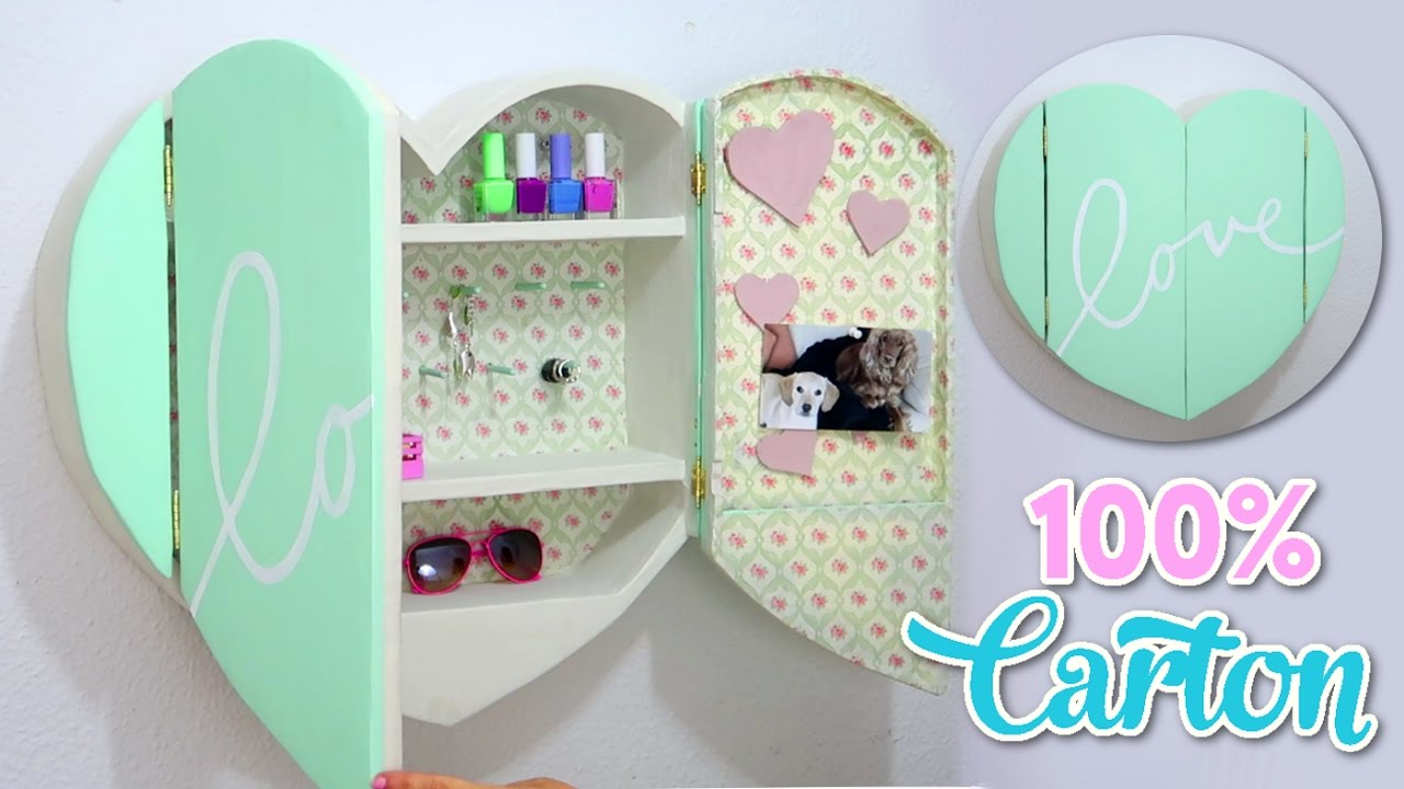 DIY CRAFTS FOR ROOM DECOR CARDBOARD FURNITURE DIY Room Decorating Ideas for Teenagers  YouTube