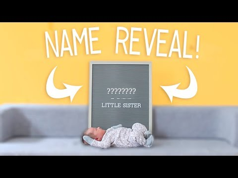 BABY NAME REVEAL For Our Third Baby Girl!