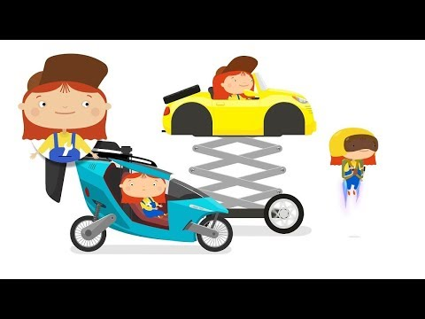 Doutora McWheelie. Um carro voador. Animação infantil.
