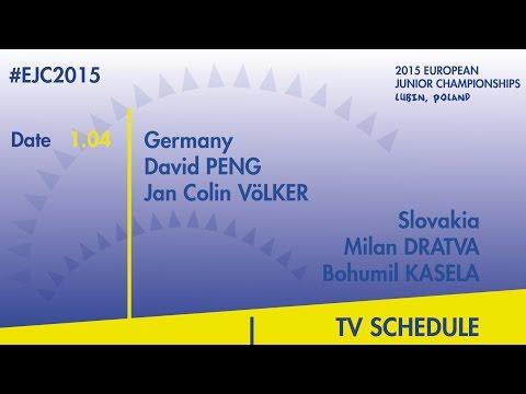 D.Peng/J.C.Volker(GER) VS. M.Dratva/B.Kasela(SVK) #EJC2015 Lubin, Poland