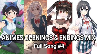 Anime Openings  & Endings Mix Full Song #4