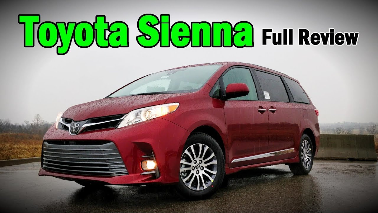 2018 toyota sienna full review limited premium xle se. Black Bedroom Furniture Sets. Home Design Ideas
