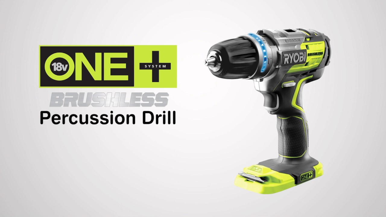 ryobi one+ 18v brushless percussion drill introduction video - youtube