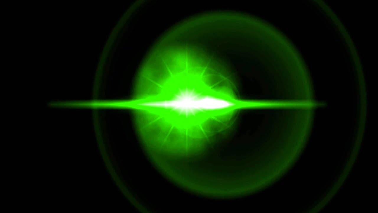 Lens Flare Green Black Background 2 ANIMATION FREE FOOTAGE ...
