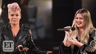 Pink, Kelly Clarkson Talk Plastic Surgery