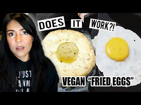 "VEGAN ""FRIED EGGS""?! Does it WORK?!  