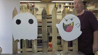 Simple Pallet Wood Halloween Yard Art