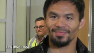 Manny Pacquiao arrives in Brisbane for Jeff Horn fight
