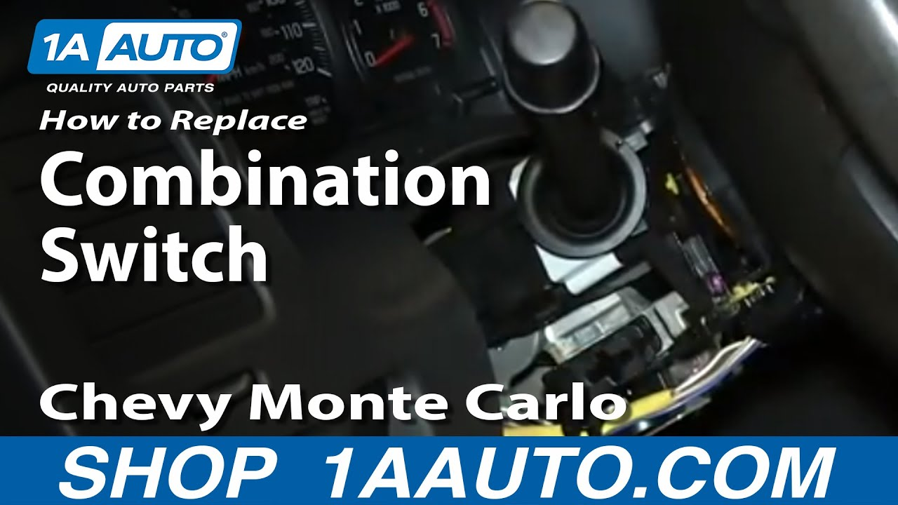 how to install replace wiper cruise high beam turn signal switch 2000 05 monte carlo youtube [ 1280 x 720 Pixel ]