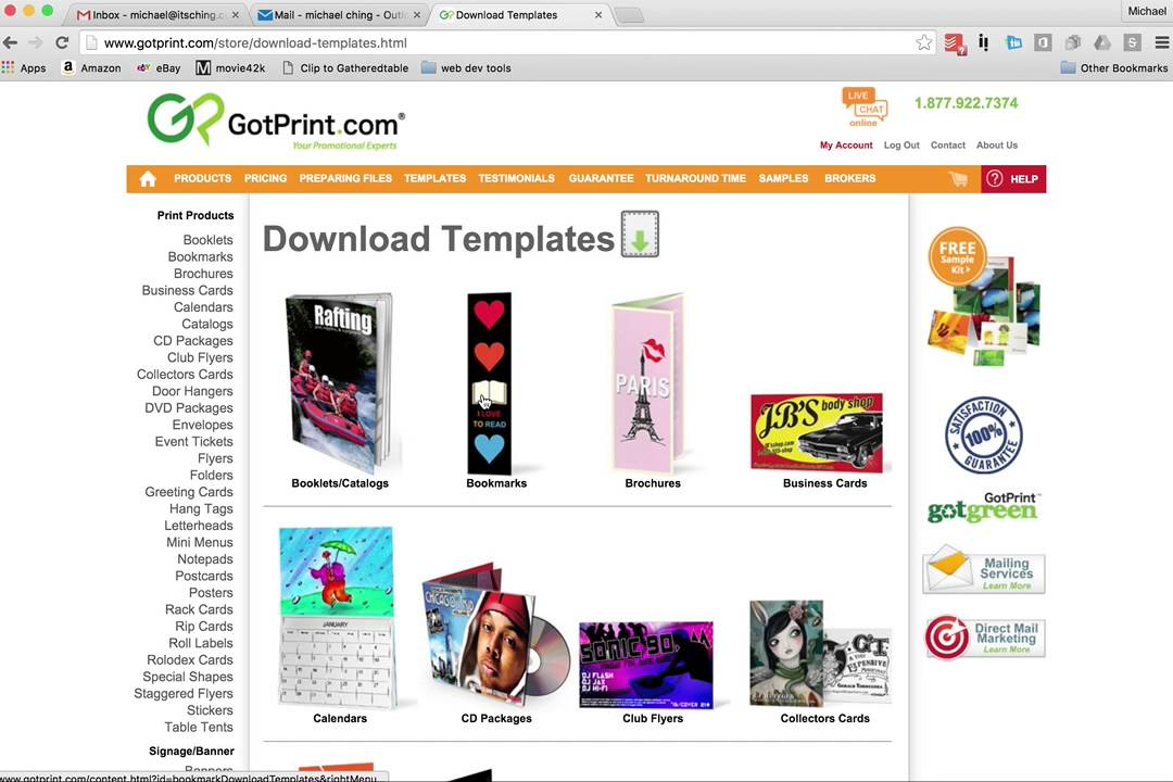 Download Gotprint Bookmark template - YouTube