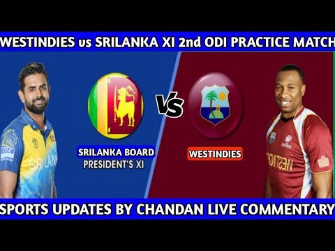 Srilanka XI vs Westindies 2nd ODI Live 🔴 SL XI vs WI 2nd ODI Practice Match Live