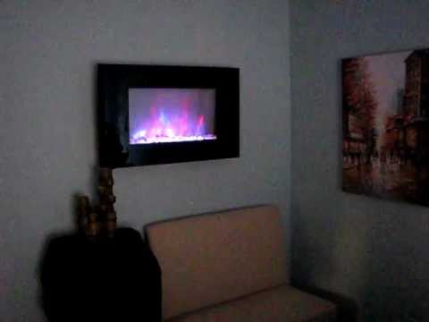 Verona Color Changing Electric Fireplace Heater  YouTube